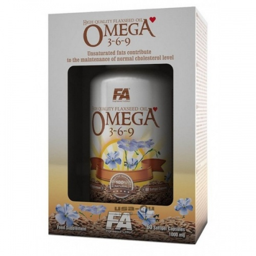 Комплекс жирных кислот Fitness Authority OMEGA 3-6-9 ,60 капс