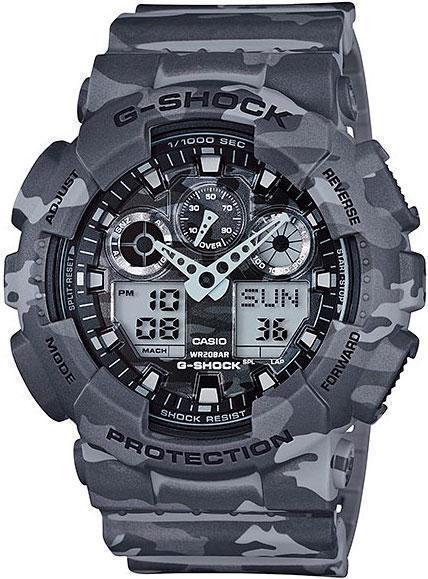 a313f785 Часы мужские Casio G-Shock GA-100CM-8ADR - купить по низкой цене в ...