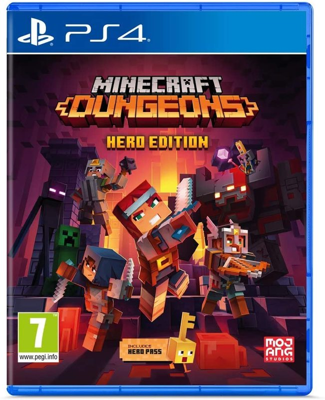 Игра для PS4 Minecraft Dungens Hero Edition русская версия